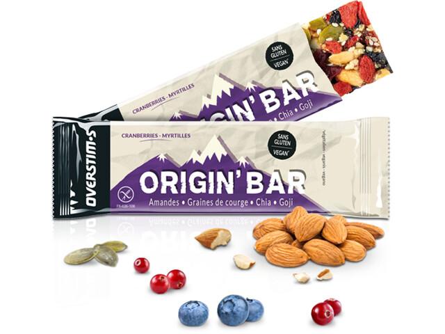 OVERSTIM.s Origin Bar Box 6x40g, Cranberries Blueberries